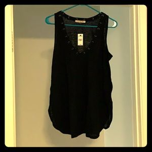 Express one eleven black tank top BNWT Size large